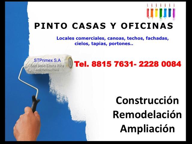 PINTAMOS SU CASA, OFICINA en Costa Rica (ofrece servcios).