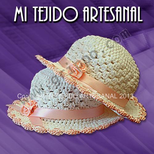 Sombrero para bebés tejidos a crochet - Imagui