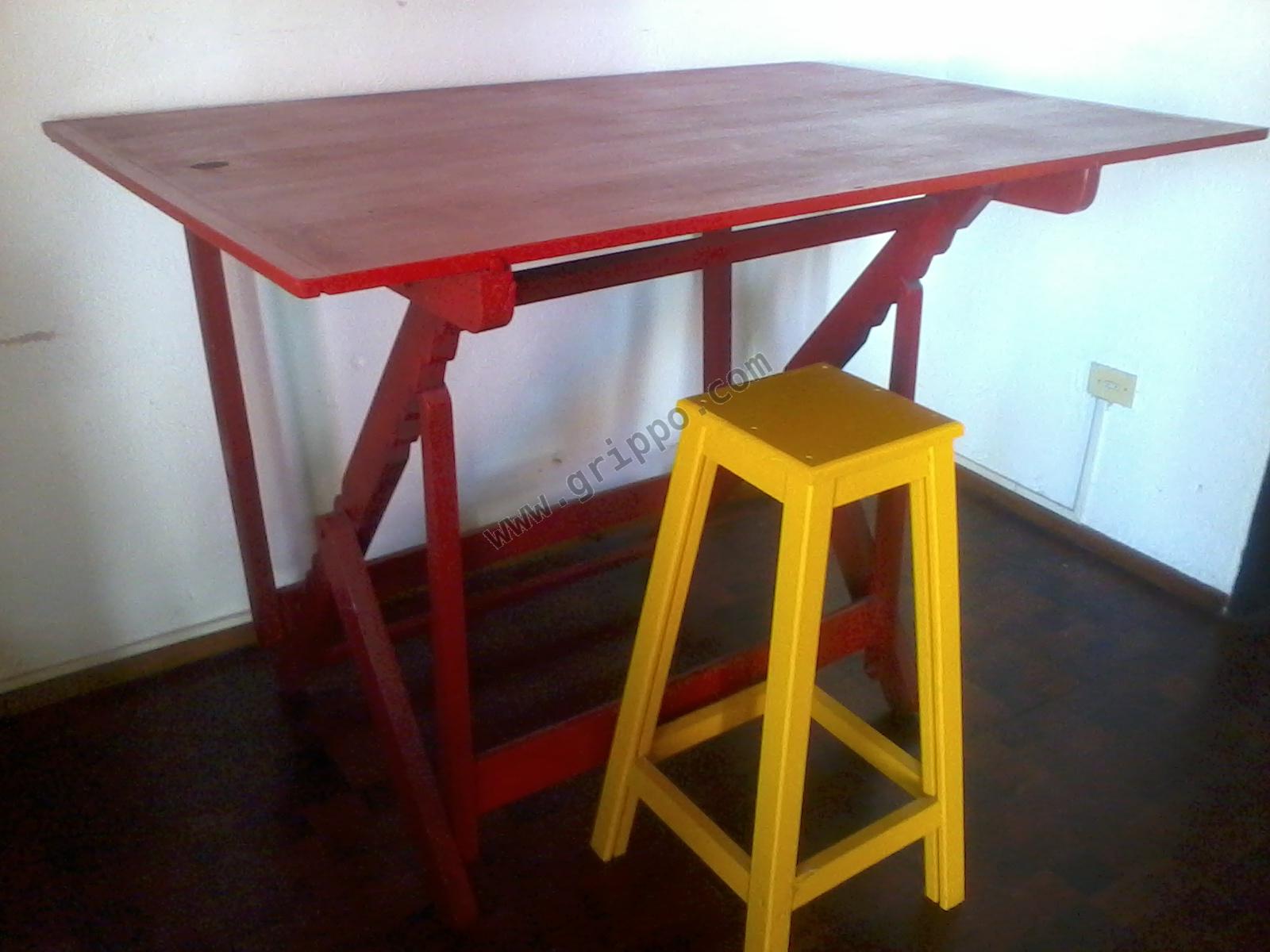 Mesa de arquitecto dise ador para dibujo con banqueta - Mesas de arquitecto ...