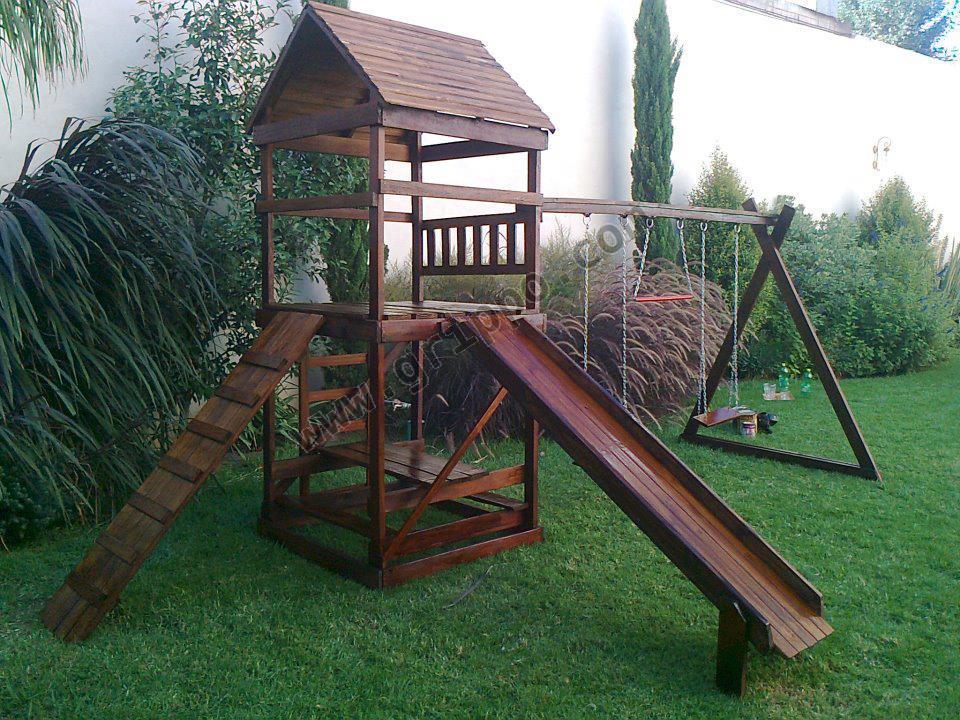 Juegos de madera y casitas infantiles for Juegos de jardin infantiles de madera
