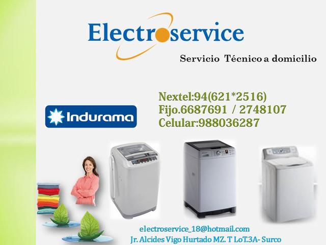 INDURAMA SERVICIO TECNICO DE lavadoras REPARACION MANTENIMIENTO en lima