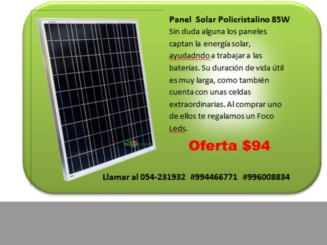 PANEL SOLAR DE 85W POLICRISTALINO