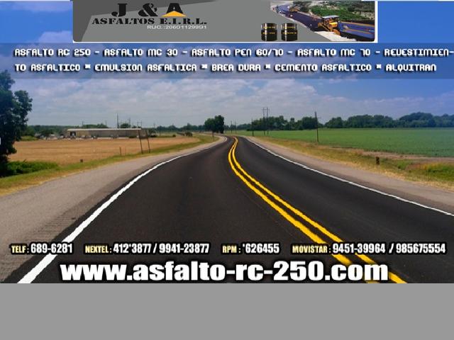 BREA LIQUIDA Y SOLIDO -ASFALTO RC 250 -CARPETA ASFALTICA -ASFALTO MC 30