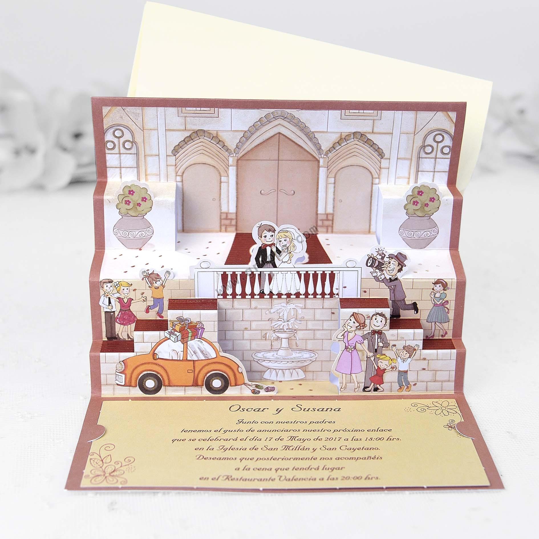 Invitaciones de boda tarjetas de bodas originales - Tarjetas de invitacion de boda originales ...