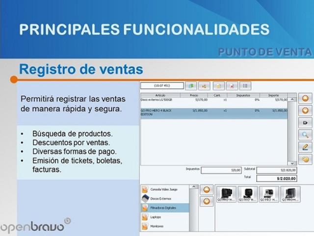 Software Punto de venta, Sistema de ventas