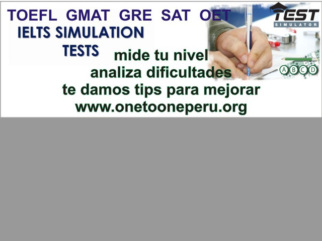 IELTS, TOEFL, OET, GMAT, GRE, TEFAQ cursos Australiana