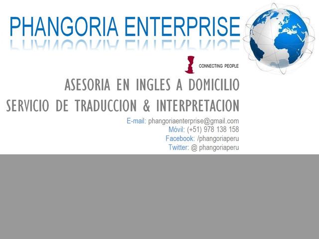 INGLÉS A DOMICILIO Y SERVICIO DE TRADUCCIÓN E INTERPRETACIÓN