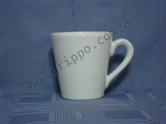 Taza jarro conico ceramica blanca for Fabrica ceramica blanca