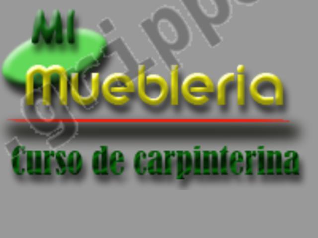 Curso de carpinteria gratis - modalidad online
