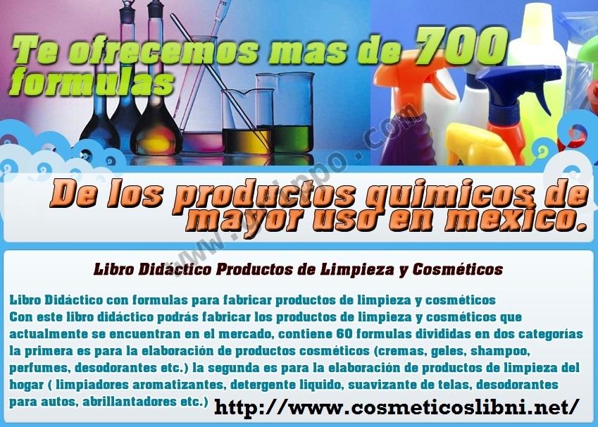 Regalo formulas para fabricar productos de limpieza y for Anuncios de productos de limpieza