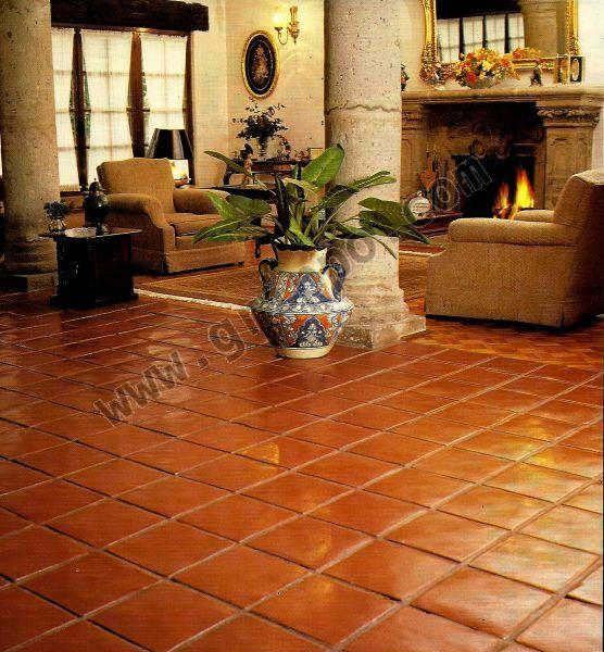 Tejas de barro adobes molduras pisos y demas for Gres rustico para interiores