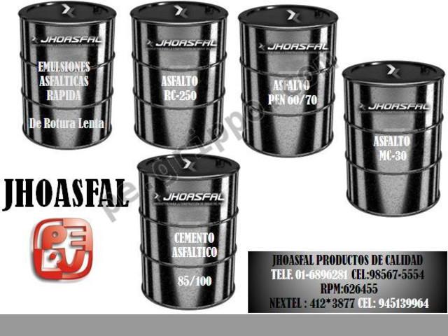 ventas de asfaltos rc-250 cel.945139964
