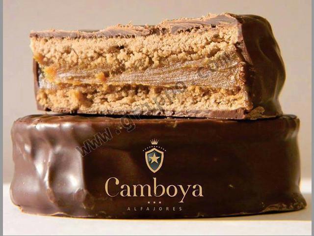 Alfajores Camboya Chocolate Negro rellenos con Dulce de Leche