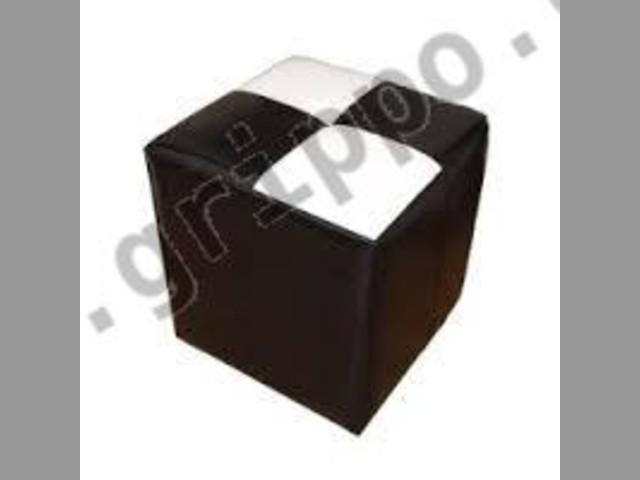 Fundas puff cubo 40x40 en eco cuero para re tapizar - Cuero para tapizar ...