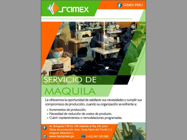 Servicio de maquila - Tacna