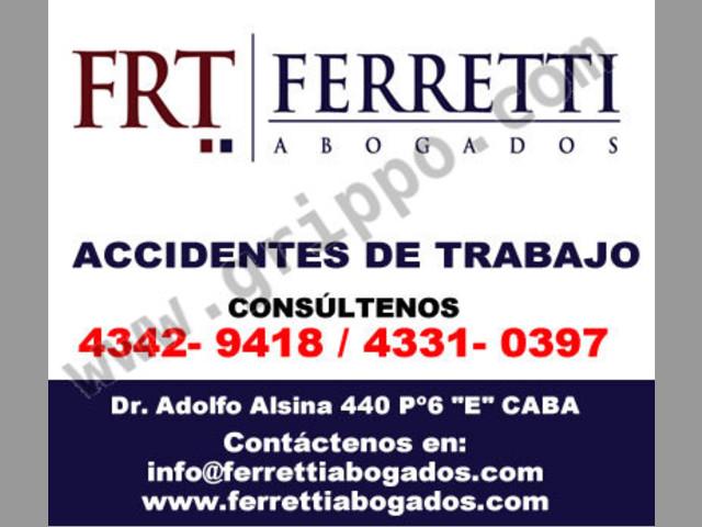 FERRETTI ABOGADOS | abogados accidentes de trabajo zona Lanus Oeste Tfno