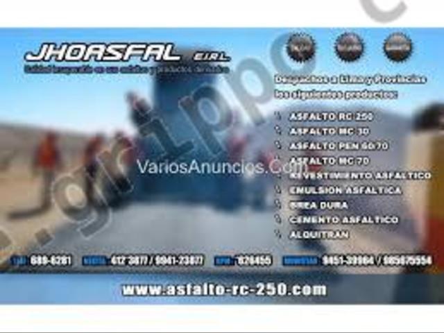 Ventas de asfaltos rc-250 envios nacionales nextel.412*3877