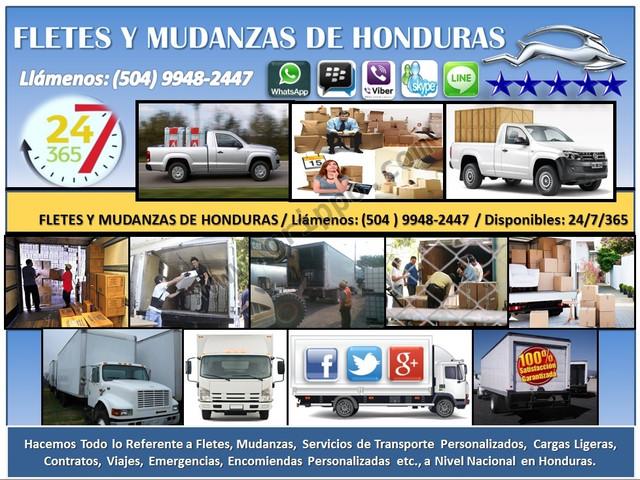 FLETES Y MUDANZAS EN SAN PEDRO SULA 24/7