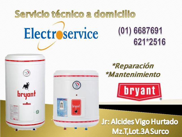 SErviciO TECnico TErmA BRYANT -mantenimiento e instalación 988036287