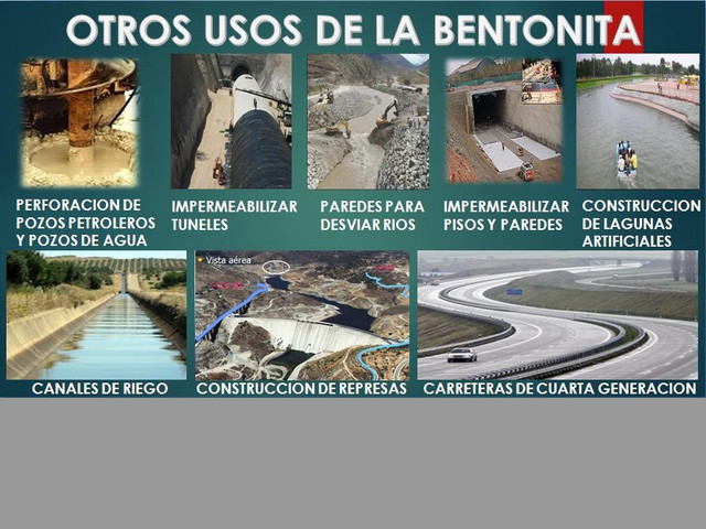 BENTONITAS SÓDICA Y CÁLCICA (ALIMENTOS BALANCEADOS, CONSTRUCCIÓN, ETC.)
