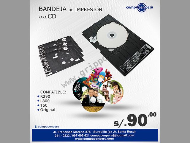 BANDEJA DE IMPRESIÓN PARA CD