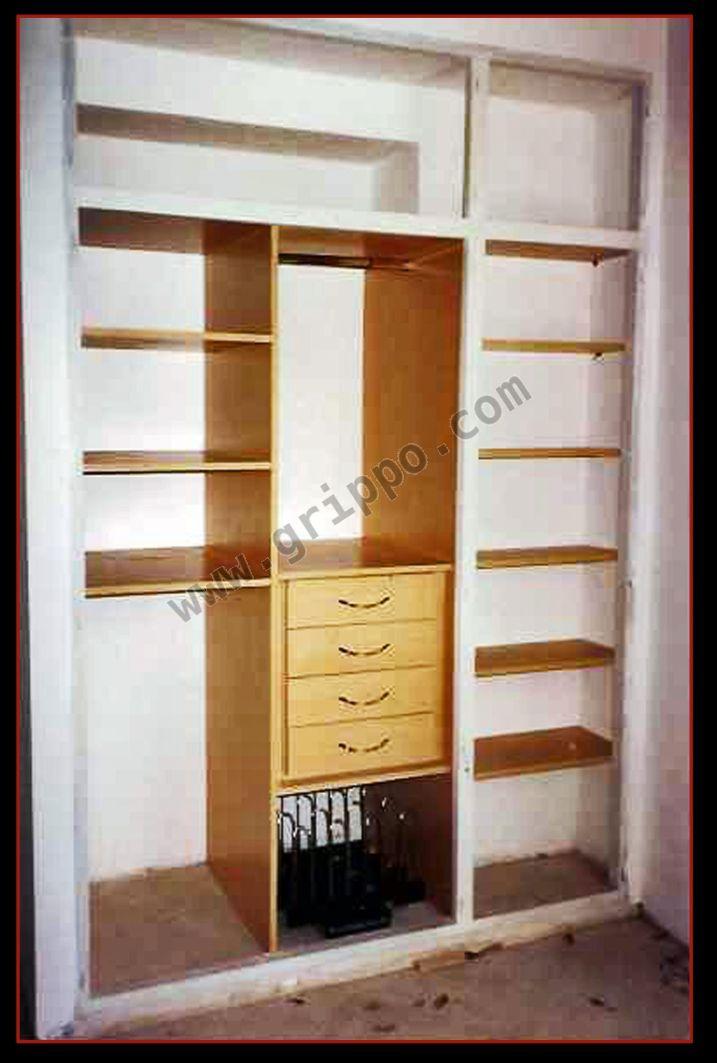 Interiores de placards frentes de placard y vestidores for Interiores de placard