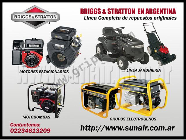 Briggs & Stratton Generadores, Motores, Repuestos, etc. www.sunair.c