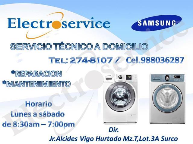 SERVICIO TECNICO mantenimiento DE LAVADORAS secadora SAMSUNG 988036287