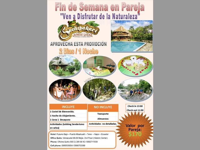 Suchikapari Jungle Lodge Programa de Fin de Semana para Parejas