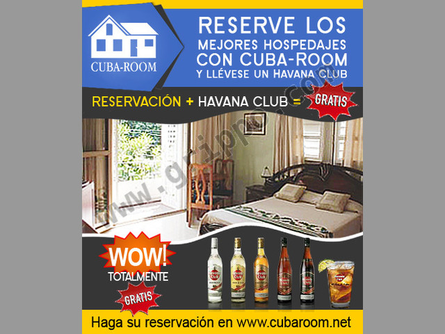 Reserve gratis habitaciones, casas, y apartamentos en Cuba!