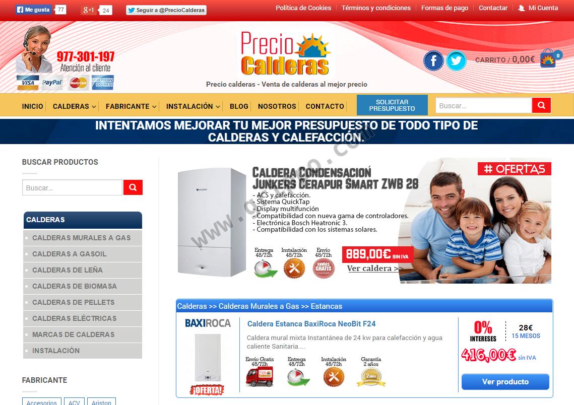 Precio calderas de condensacion for Caldera condensacion precio