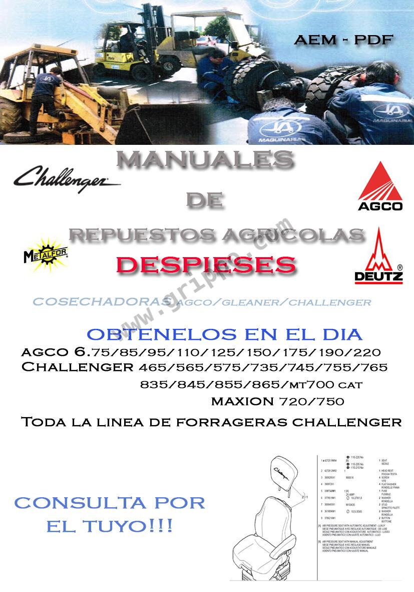 Manuales De Despieces Tractores Retroexcavadora