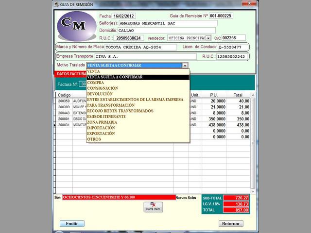 SOFTWARE SISTEMA DE FACTURACION BASICO ADAPTABLE P-EMP.,NEGOCIOS