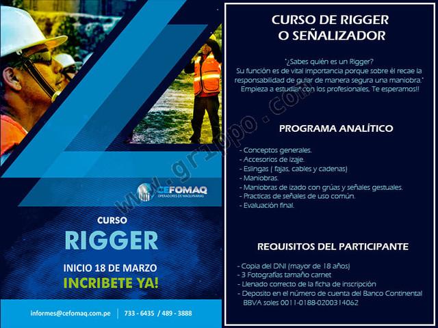 CAPACITACION DE RIGGER O SEÑALIZADOR