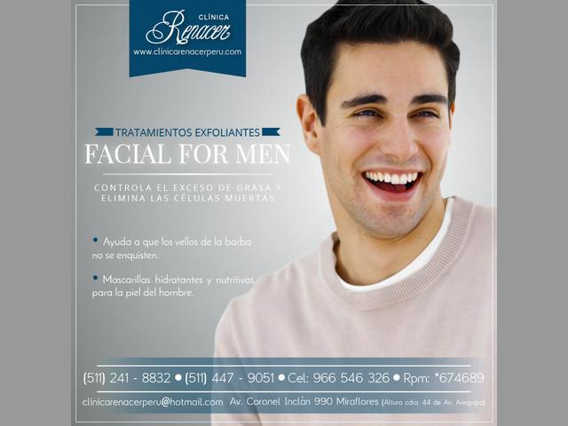 Facial for Men - Clínica Renacer