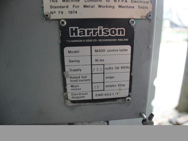 "Torno HARRISON 16"" X 40"" - Usado"