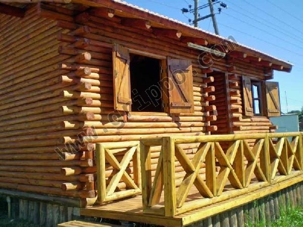 Construccion de caba as de troncos - Casas de troncos redondos ...