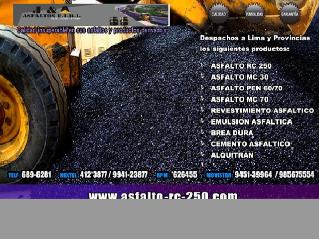 IMPERMEABILIZANTES ASFALTICO -ASFALTO RC 250 LIQUIDO -BREA X BLOQUE Y LI
