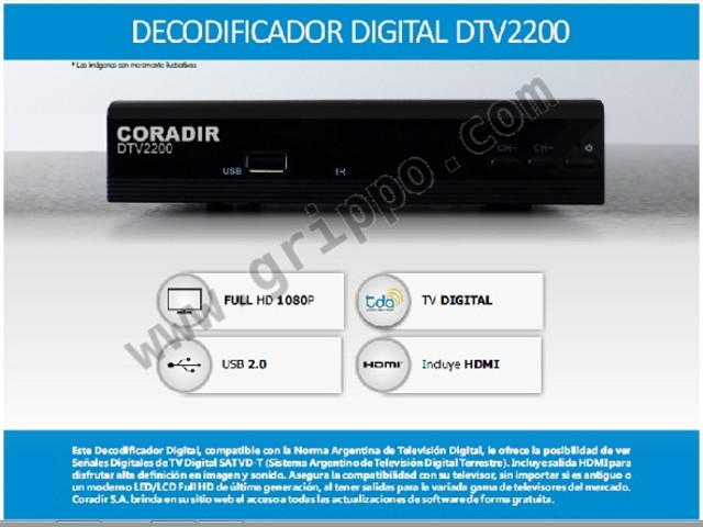 Decodificador Tv Digital DTV2200