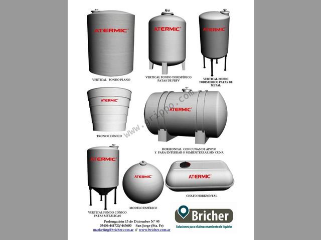 Tanques para agua,leche,aceites,acidos,fertilizantes entre otros - Brich