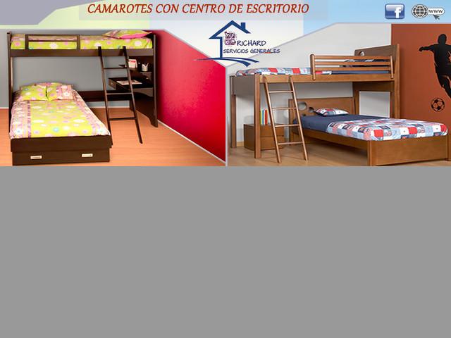 CAMAROTES CON CENTRO DE ESCRITORIO