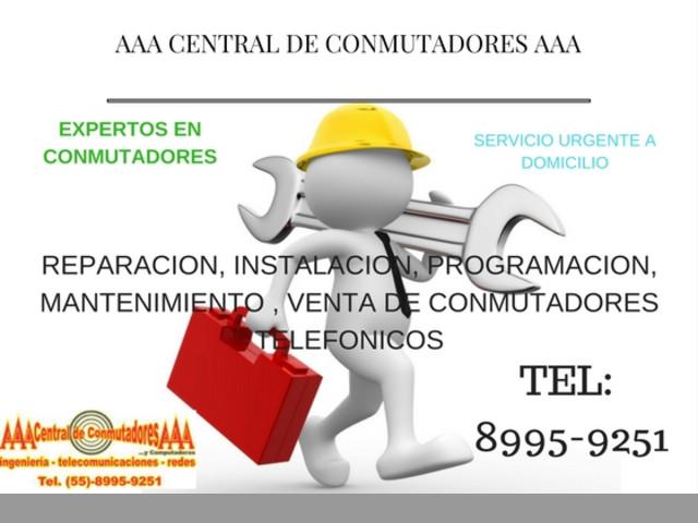 INSTALACION DE CONMUTADOR , REPARACION DE CONMUTADORES