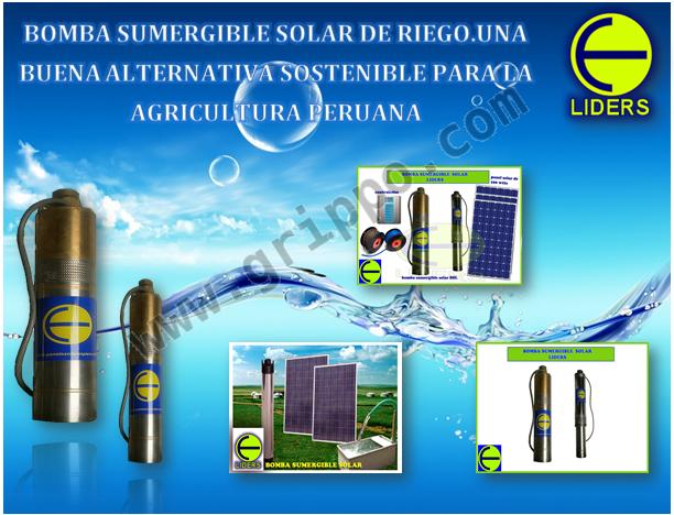 Bombas solares sumergibles ideales para la extraccion de - Bombas de extraccion de agua ...