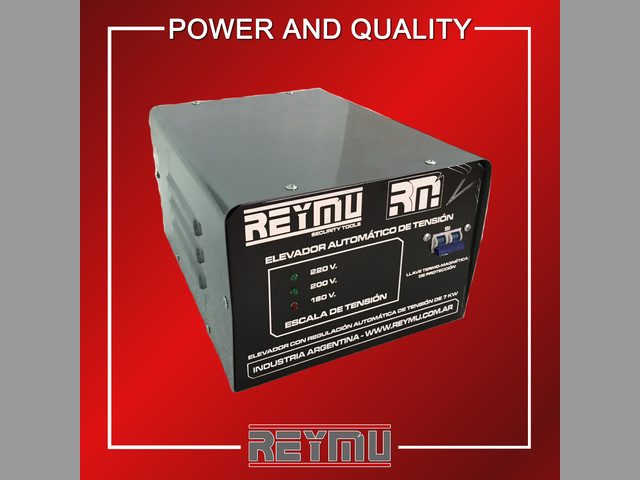 Elevadores de Tensión Electrónicos REYMU 7 KVA.