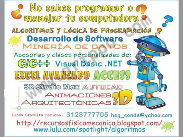 Excel Avanzado, Algoritmos, Java, Android, C-C++, Visual Basic .Net, Aut