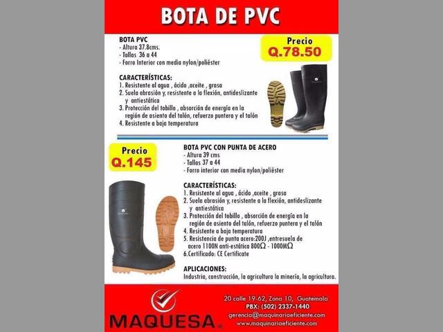 BOTAS DE PVC CON PUNTA Y SIN PUNTA DE ACERO