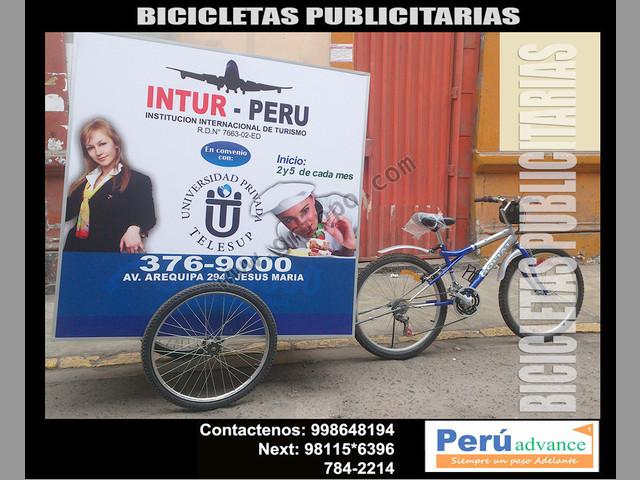 bicicletas de alto impacto publicitario
