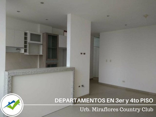 Departamentos 3er y 4to Piso - Urb. Miraflores Country Club, Piura