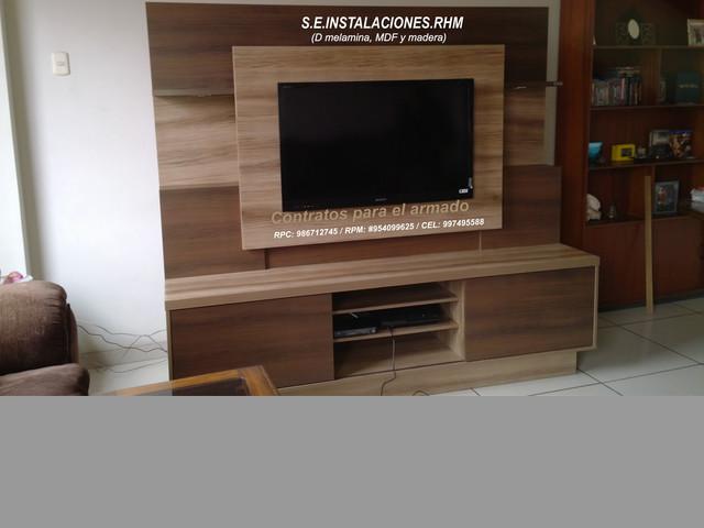 instalacion de rack para tv