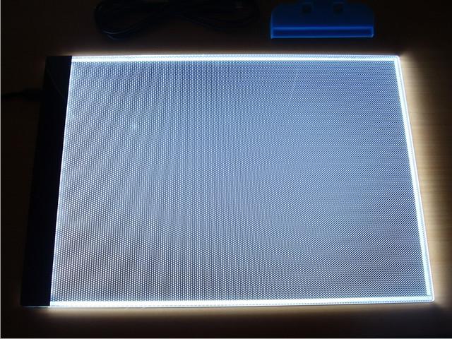 Tableta Tablero Luz LED A4 dibujo animacion tracing USB ultra delgada